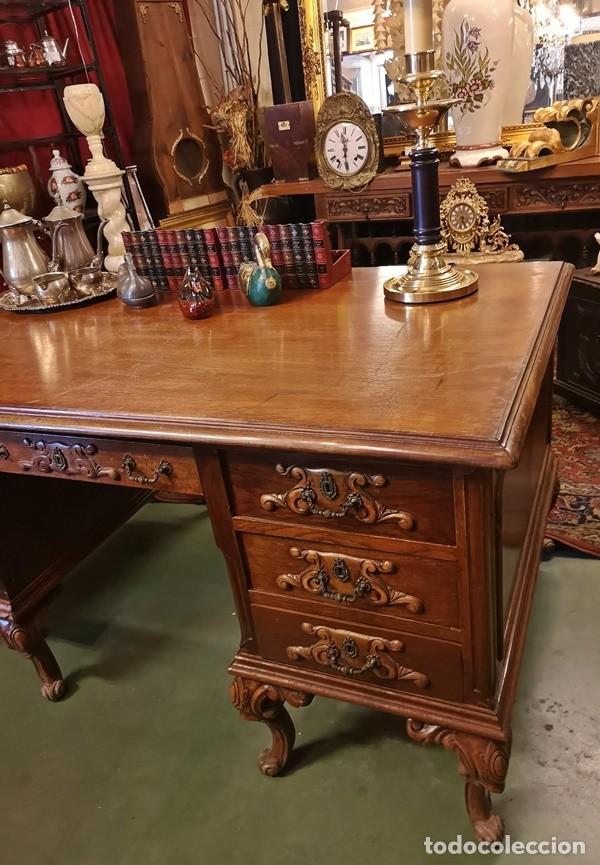 Antigüedades: Mesa de Despacho Antigua - Foto 6 - 210039238