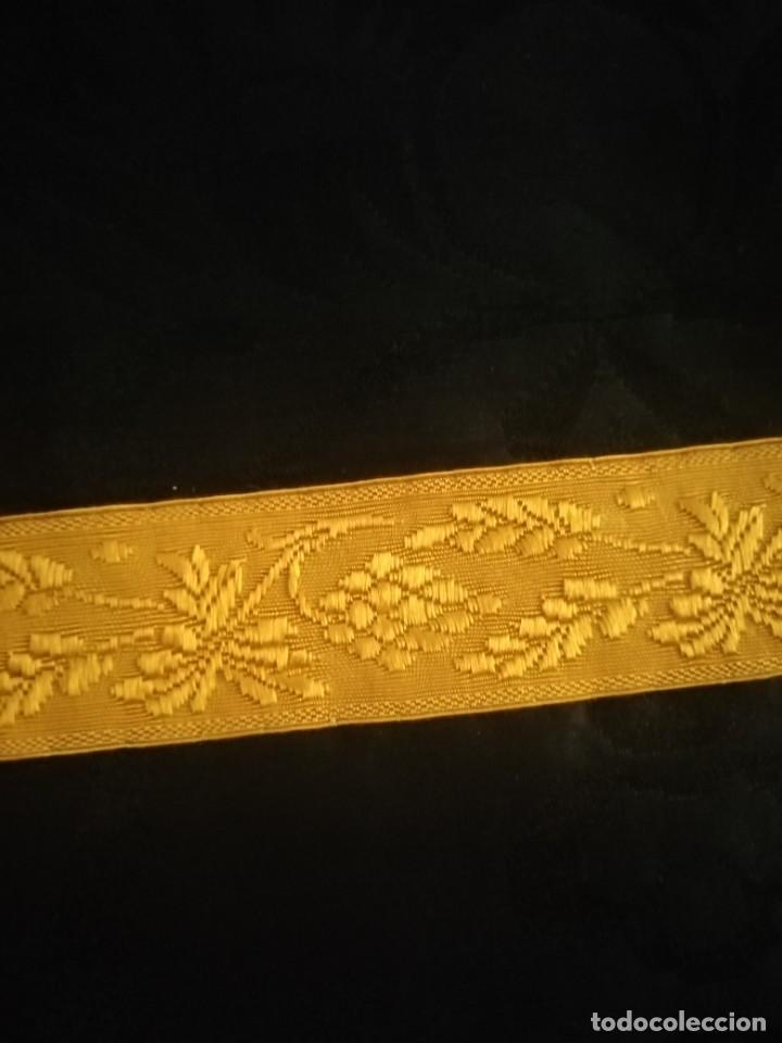 Antigüedades: PAREJA DE DALMATICAS NEGRAS CON COLLARINES - Foto 6 - 210042091