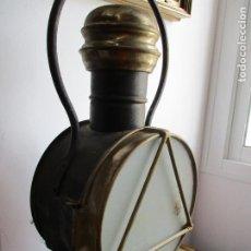 Antigüedades: FAROL DE TREN ANTIGUO DE MAQUINA. Lote 210044893
