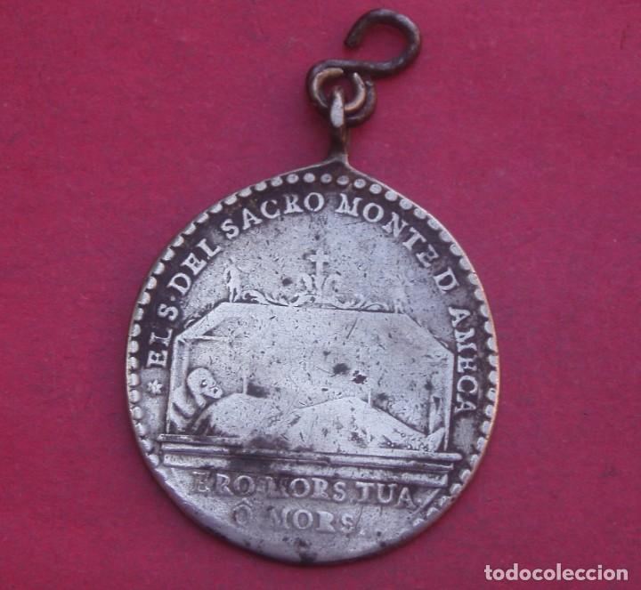 MEDALLA PLATA AÑO 1810 SANTO CRISTO DEL SACROMONTE DE AMECA. MÉXICO. (Antigüedades - Religiosas - Medallas Antiguas)