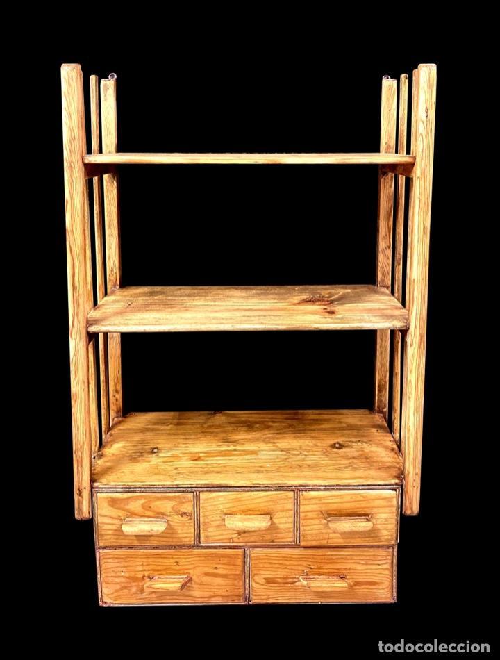 PRECIOSA ESTANTERÍA -LIBRERÍA CON MUCHA CAPACIDAD. (Antigüedades - Muebles Antiguos - Auxiliares Antiguos)