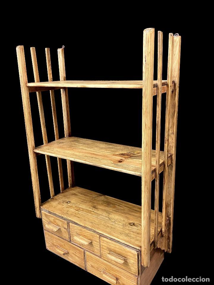 Antigüedades: Preciosa estantería -librería con mucha capacidad. - Foto 2 - 210058971