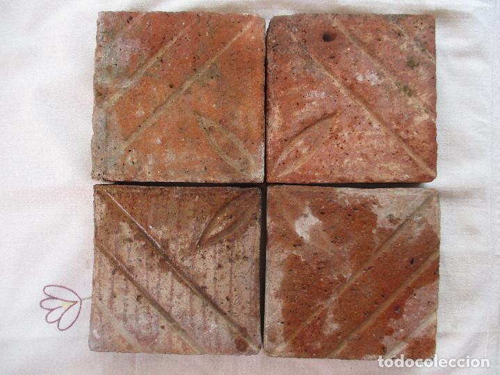 PANEL 4 AZULEJOS BARROCOS VALENCIA (Antigüedades - Porcelanas y Cerámicas - Azulejos)