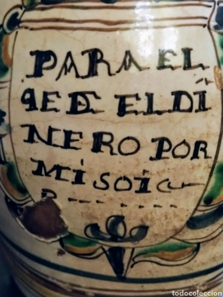 Antigüedades: Magnifica jarra de vino Puente del Arzobispo siglo XVIII. - Foto 2 - 210064892