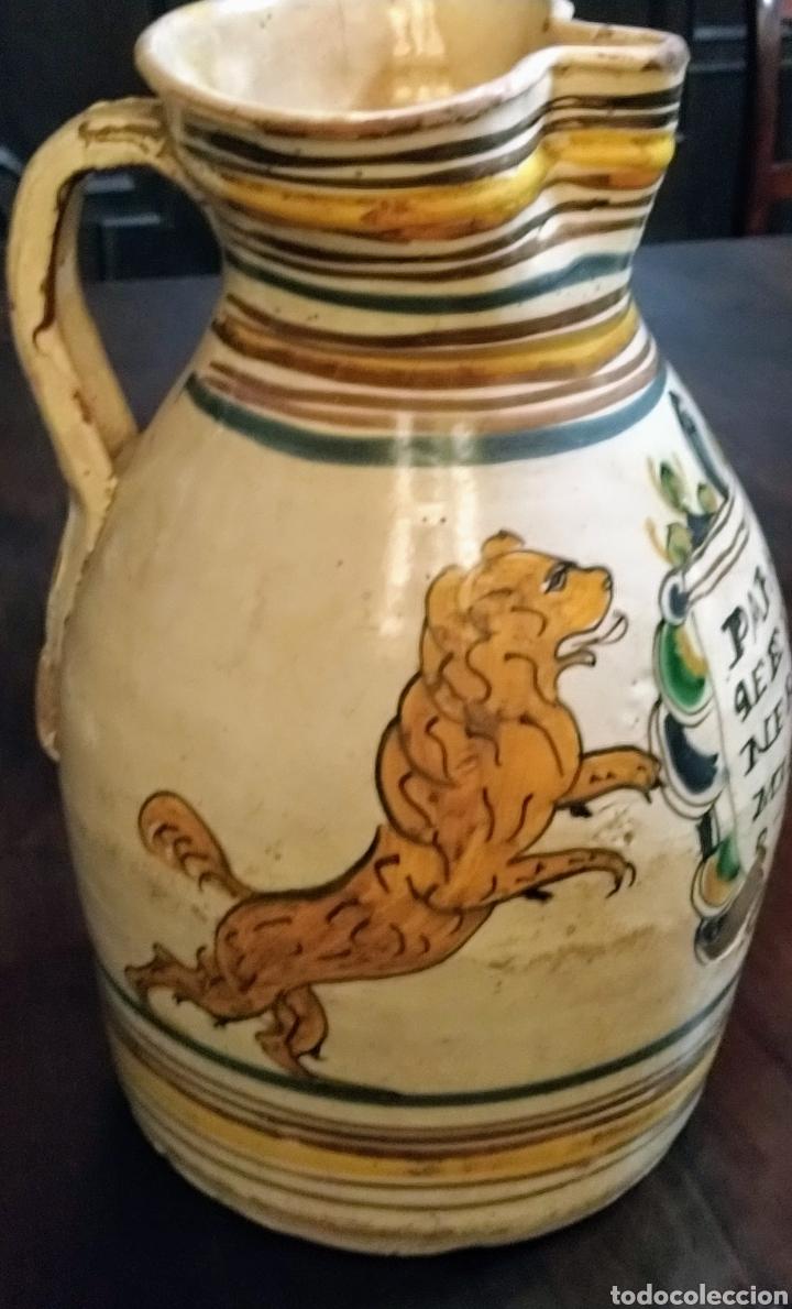 Antigüedades: Magnifica jarra de vino Puente del Arzobispo siglo XVIII. - Foto 5 - 210064892
