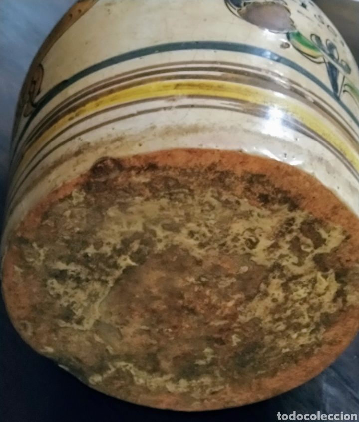 Antigüedades: Magnifica jarra de vino Puente del Arzobispo siglo XVIII. - Foto 6 - 210064892