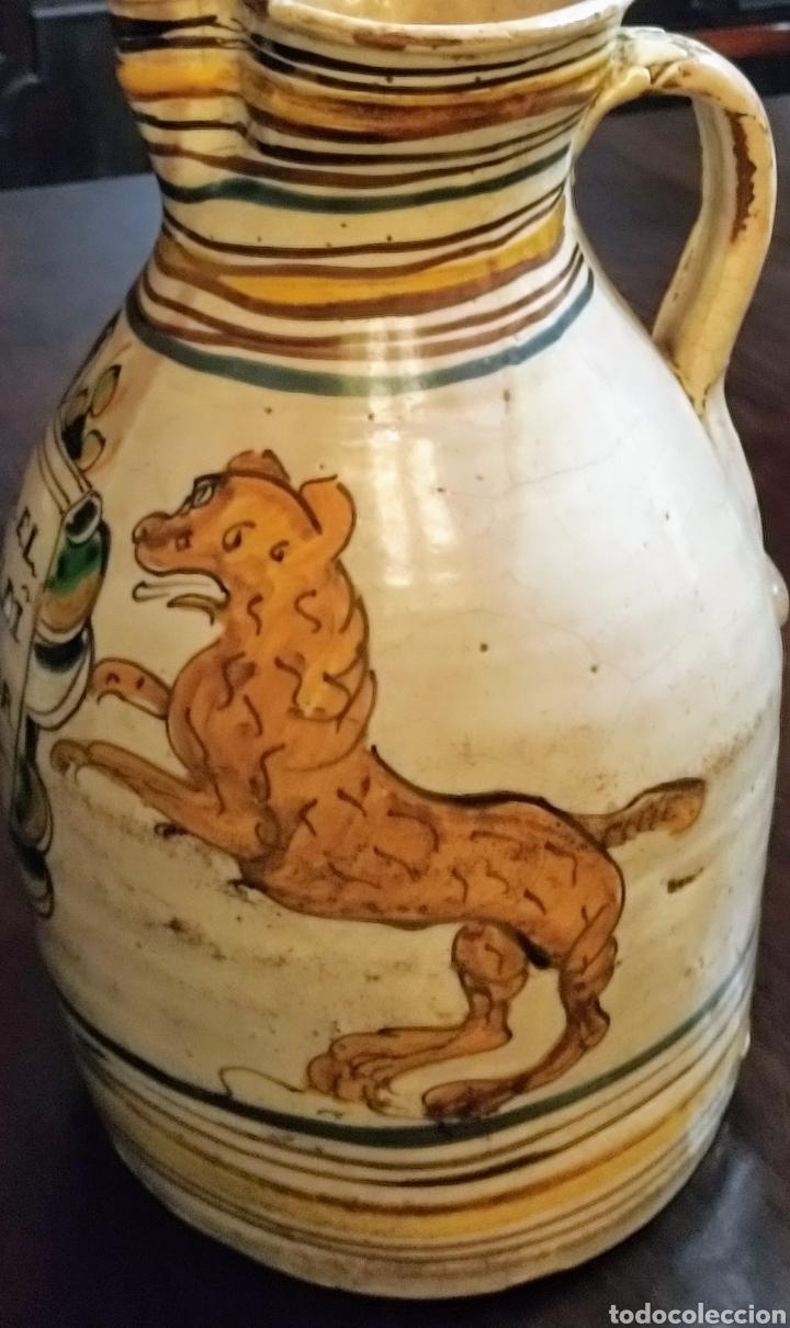 Antigüedades: Magnifica jarra de vino Puente del Arzobispo siglo XVIII. - Foto 7 - 210064892