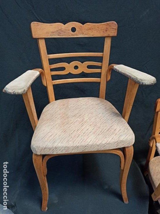 Antigüedades: Pareja de sillones de madera de haya. A1 - Foto 2 - 210081647