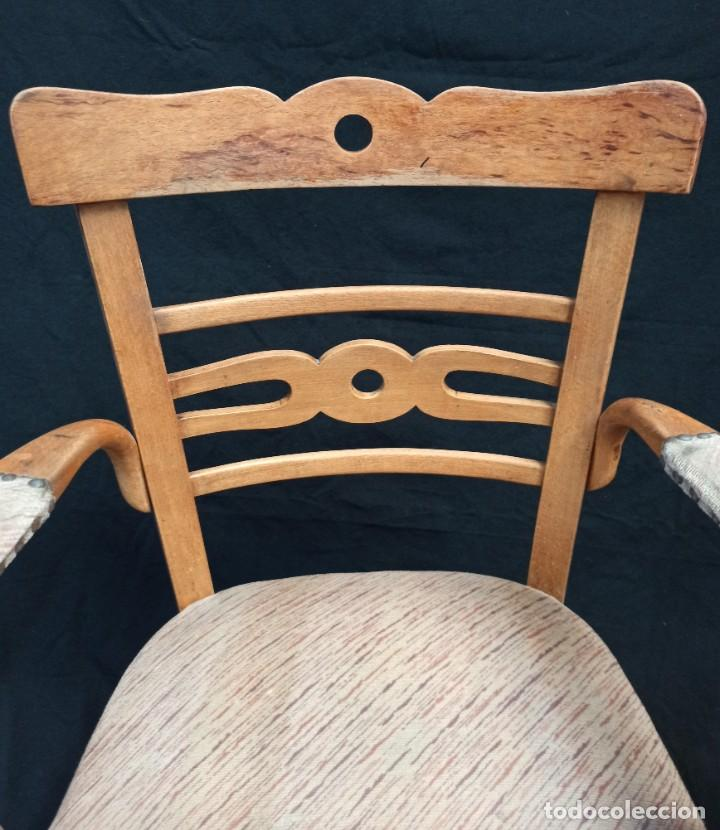 Antigüedades: Pareja de sillones de madera de haya. A1 - Foto 3 - 210081647