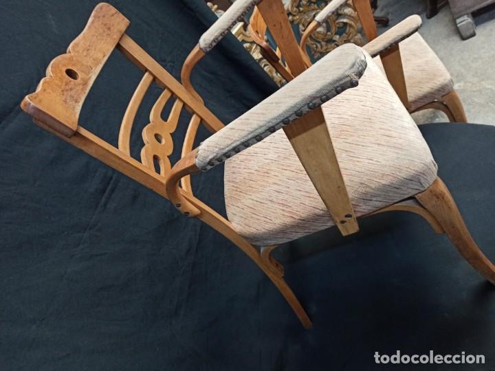 Antigüedades: Pareja de sillones de madera de haya. A1 - Foto 4 - 210081647