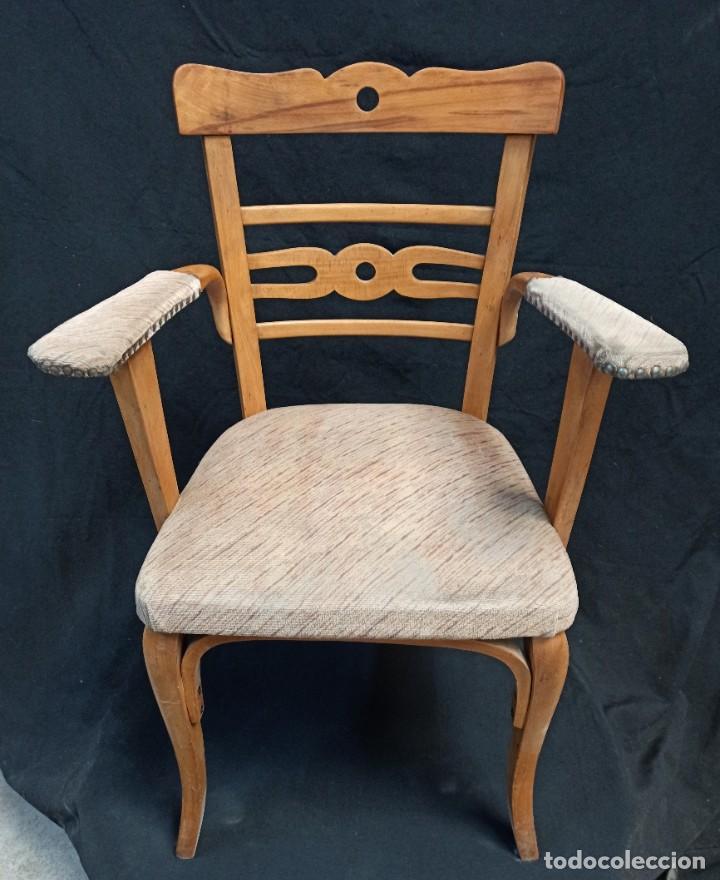 Antigüedades: Pareja de sillones de madera de haya. A1 - Foto 5 - 210081647