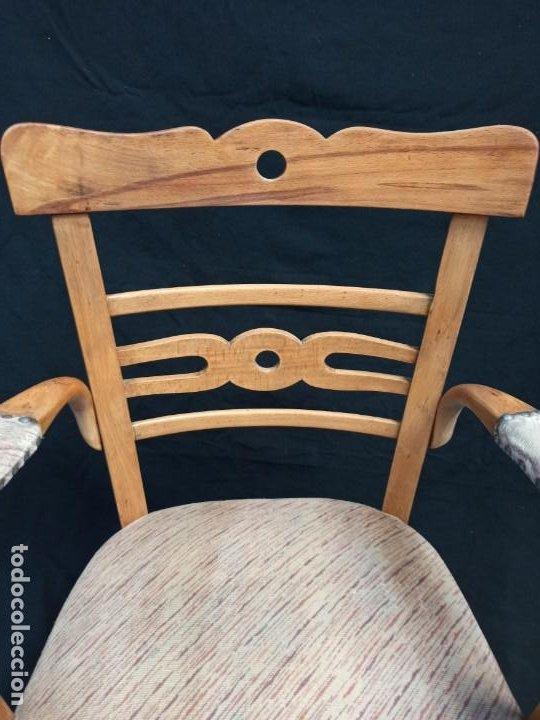 Antigüedades: Pareja de sillones de madera de haya. A1 - Foto 6 - 210081647