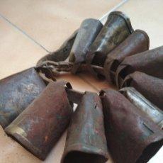 Antigüedades: LOTE 10 CENCERROS O ESQUILAS PEQUEÑAS. Lote 210091125