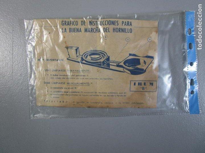 Antigüedades: Hornillo de Petróleo - Marca Irum, Mod B - Cocina Económica - con Instrucciones - Años 40-50 - Foto 20 - 210095615