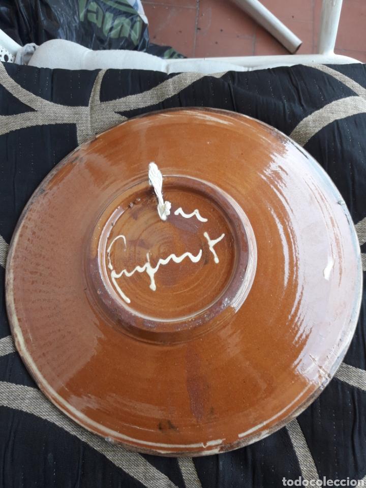 Antigüedades: Antiguo plato de cerámica Puigdemon - Foto 2 - 210098328
