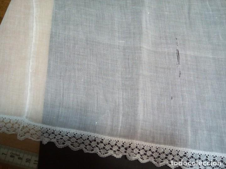 Antigüedades: * ORGANDI, GASA BORDADA A MANO. 13 M. (Rf: 279/e) - Foto 4 - 210098446