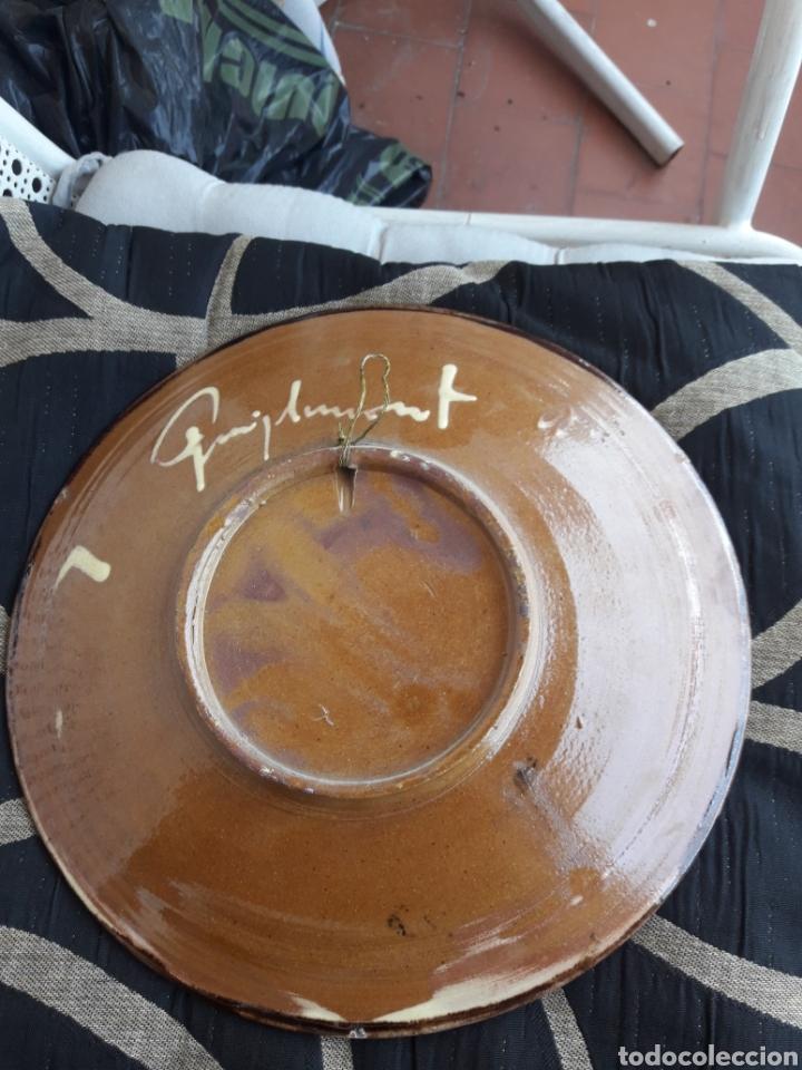 Antigüedades: Antiguo plato de cerámica Puigdemon - Foto 2 - 210098765