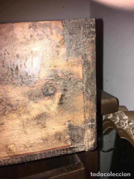 Antigüedades: Mueble de entrada estilo castellano madera maciza. mide 110 x 97 x 34. bien conservado - Foto 4 - 210099892