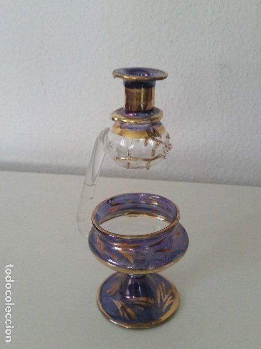 RARO Y MAGNIFICO PERFUMEIRO PARA A CASA EM CRISTAL MORANO MUY FINO Y PINTADO A MANO (Antigüedades - Cristal y Vidrio - Murano)