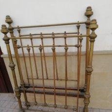 Antigüedades: ANTIGUA CAMA DORADA DE 105. Lote 210110467