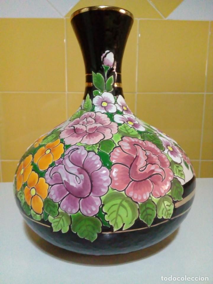 Antigüedades: precioso florero de ceramica - Foto 7 - 210112970