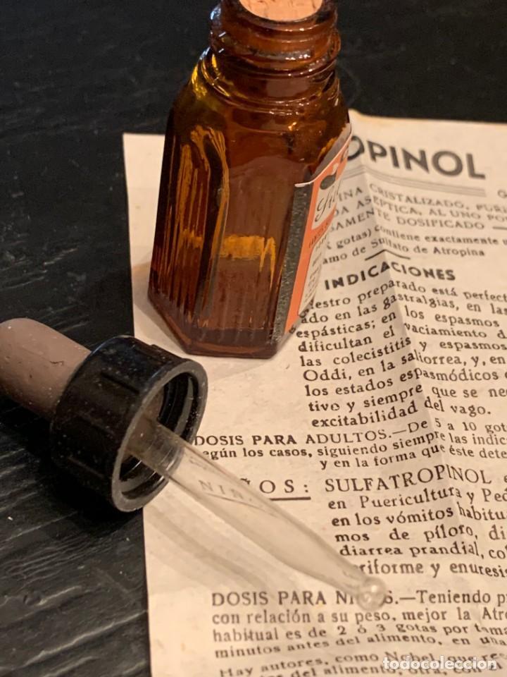 Antigüedades: Antiguo medicamento. Gotas Sulfatropinol. Bote con cuentagotas. Laboratorio Eros. Farmacia - Foto 8 - 210113016