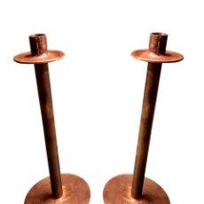 Antigüedades: CANDELABROS DE HIERRO, MUY ELEGANTES. SÓLIDOS. Lote 210114881