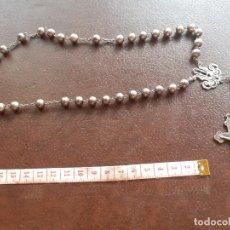 Antiguidades: EXCELENTE ROSARIO DE PLATA. Lote 210139291