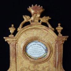 Antigüedades: IMPORTANTE SACRA-PORTA RELICARIOS, ELABORADA EN MADERA TALLADA. PPS. S. XVIII. MIDE 64 CM DE ALTURA.. Lote 210151583