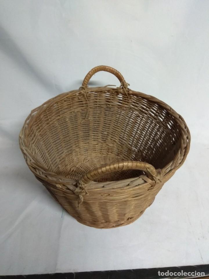 Antigüedades: Cesto de mimbre. - Foto 3 - 210157832