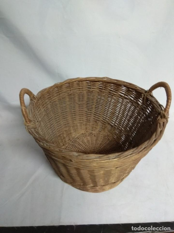 Antigüedades: Cesto de mimbre. - Foto 4 - 210157832