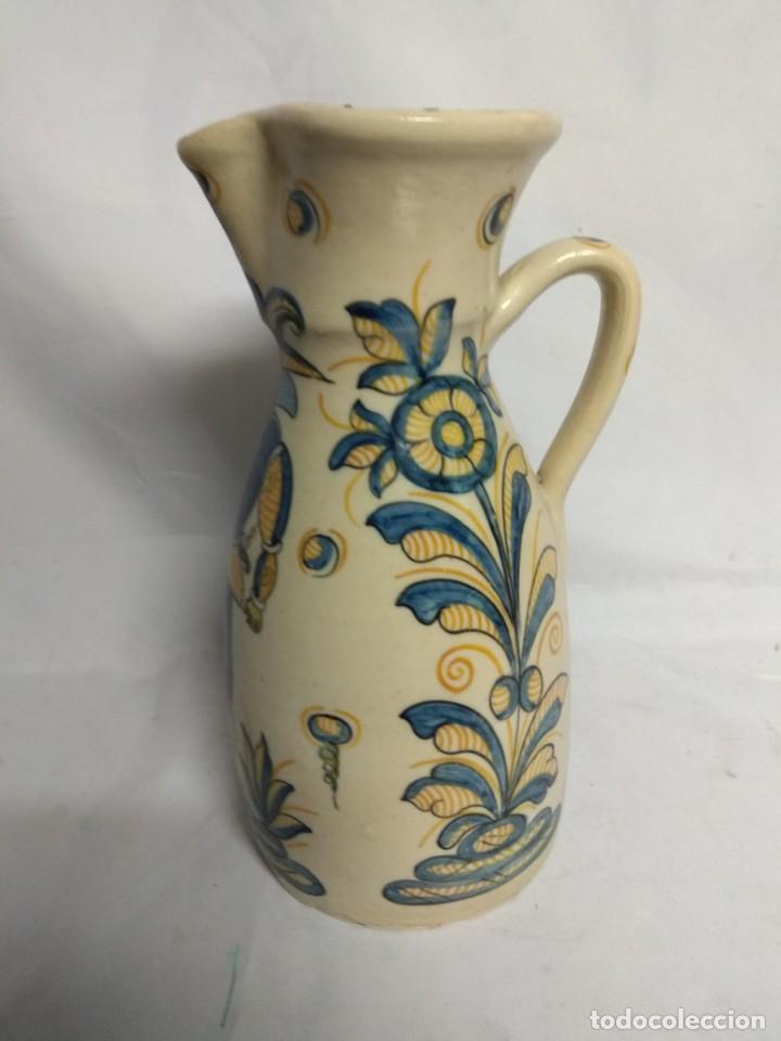 Antigüedades: Jarra fabricada en cerámica de La Menora, Talavera, España. - Foto 2 - 210158191