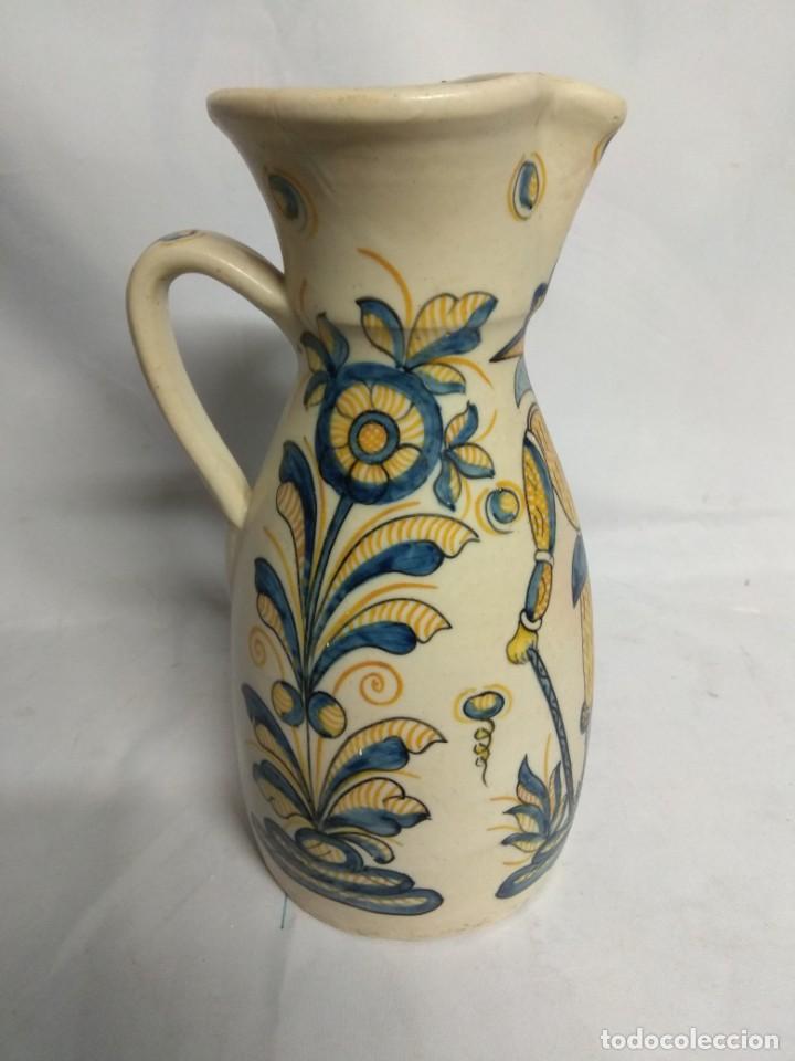 Antigüedades: Jarra fabricada en cerámica de La Menora, Talavera, España. - Foto 3 - 210158191