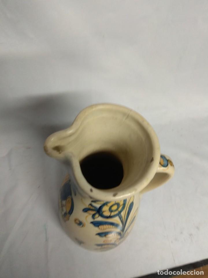 Antigüedades: Jarra fabricada en cerámica de La Menora, Talavera, España. - Foto 6 - 210158191