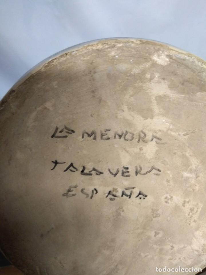 Antigüedades: Jarra fabricada en cerámica de La Menora, Talavera, España. - Foto 7 - 210158191