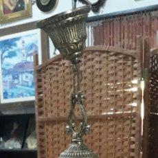 Antigüedades: LAMPARA ARAÑA ORFEBRERÍA DE METAL. Lote 210163745