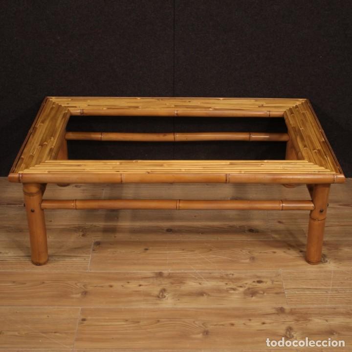 Antigüedades: Mesita de diseño italiano en bambú y madera exótica - Foto 2 - 210176956