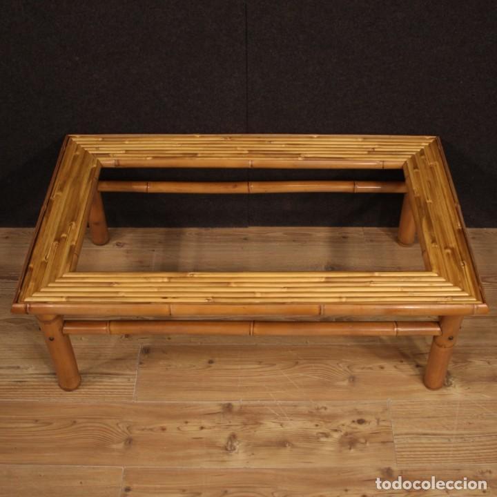 Antigüedades: Mesita de diseño italiano en bambú y madera exótica - Foto 4 - 210176956