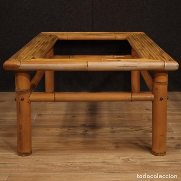 Antigüedades: Mesita de diseño italiano en bambú y madera exótica - Foto 5 - 210176956