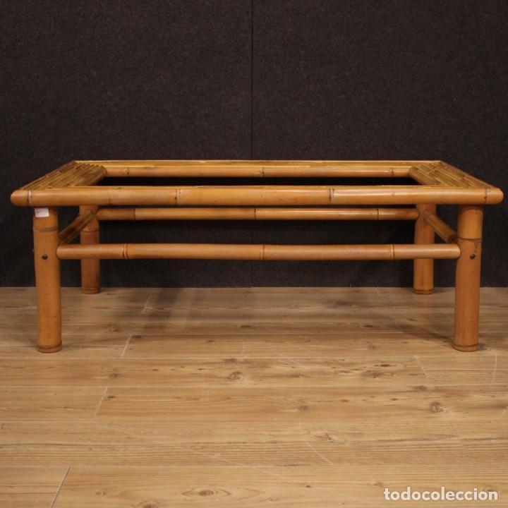Antigüedades: Mesita de diseño italiano en bambú y madera exótica - Foto 6 - 210176956