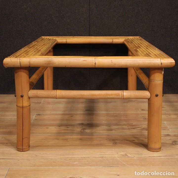 Antigüedades: Mesita de diseño italiano en bambú y madera exótica - Foto 7 - 210176956