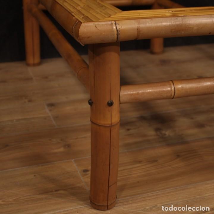 Antigüedades: Mesita de diseño italiano en bambú y madera exótica - Foto 8 - 210176956