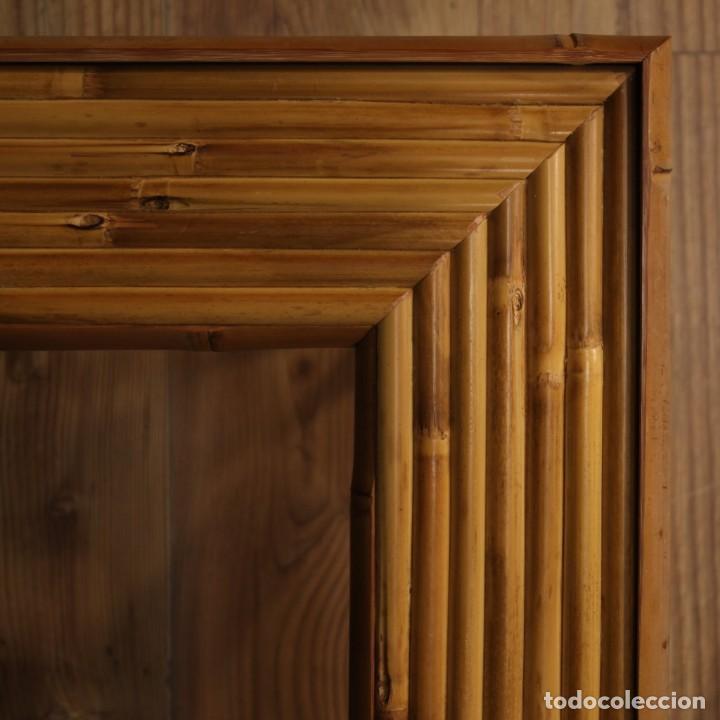 Antigüedades: Mesita de diseño italiano en bambú y madera exótica - Foto 9 - 210176956