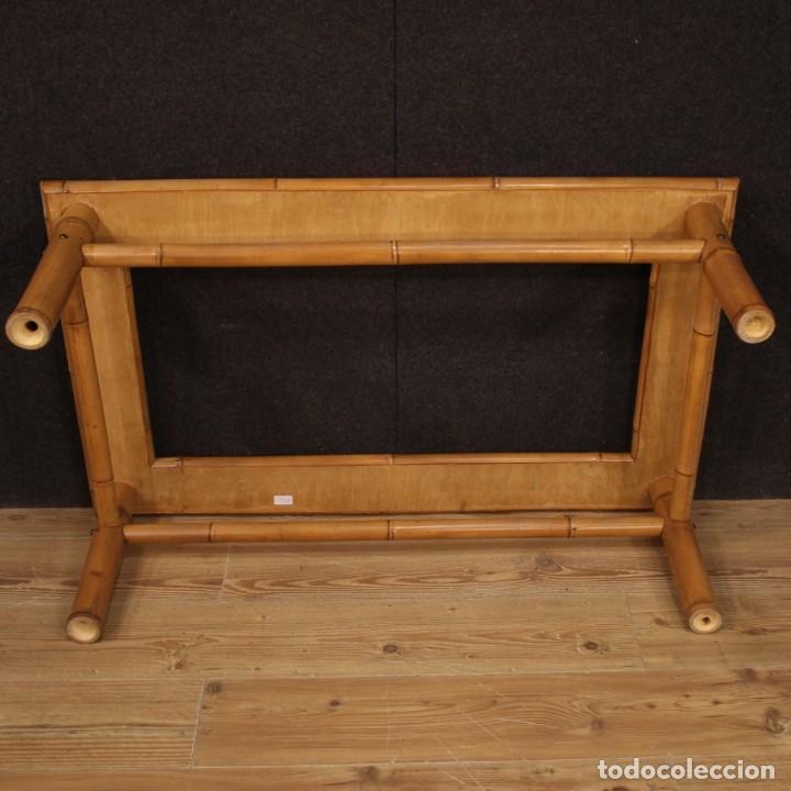 Antigüedades: Mesita de diseño italiano en bambú y madera exótica - Foto 10 - 210176956