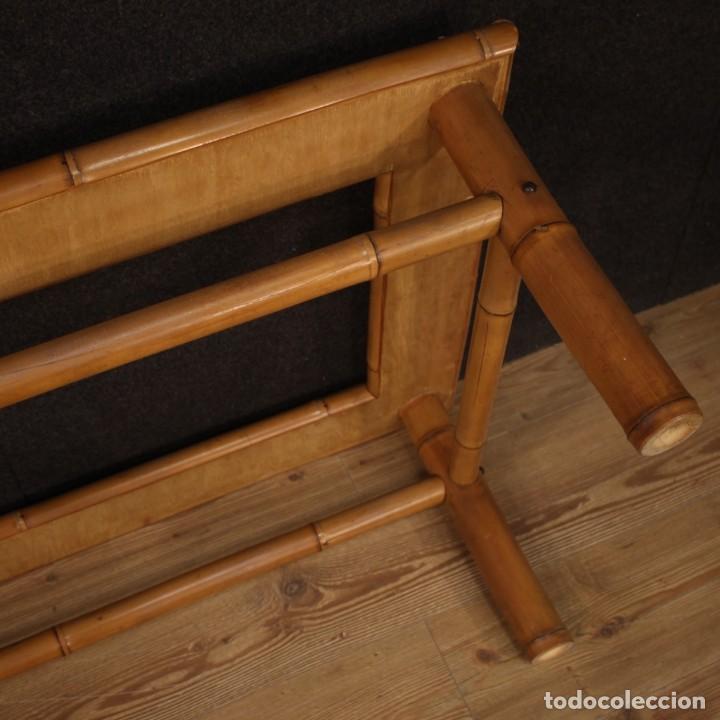 Antigüedades: Mesita de diseño italiano en bambú y madera exótica - Foto 11 - 210176956