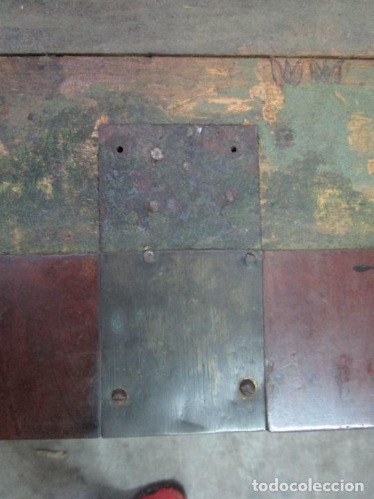 Antigüedades: Decorativa Cómoda Escritorio Isabelina - Madera de Caoba - S. XIX - Foto 14 - 210189681