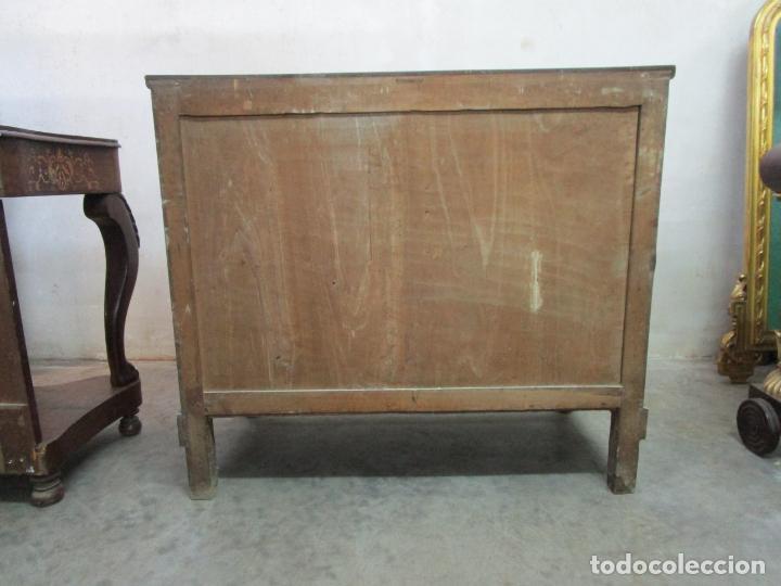 Antigüedades: Decorativa Cómoda Escritorio Isabelina - Madera de Caoba - S. XIX - Foto 19 - 210189681