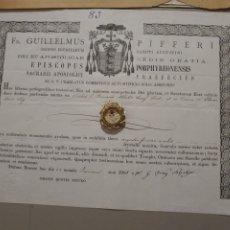 Antigüedades: RELIQUIA SANTA CLARA Y DOCUMENTO.. Lote 210205143