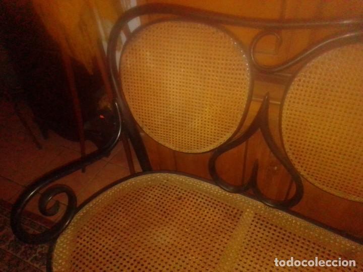 Antigüedades: Antiguo sofá Thonet de tres plazas de Fischel, Bohemia - Austria - Foto 2 - 210209787