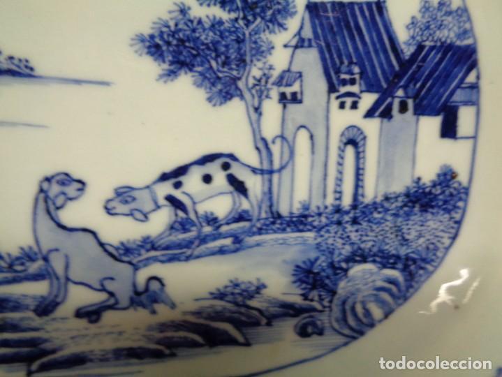 Antigüedades: BANDEJA CHINA EN PORCELANA, ÉPOCA KANXI (1668-1722). COMPAÑÍA DE INDIAS - Foto 5 - 210209940